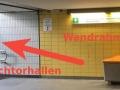 la estacion de metro Messberg salida direccion deichtorhallen
