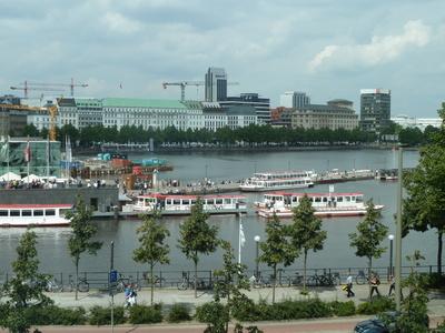 La Binnenalster con barcos
