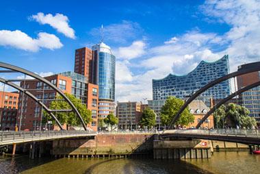 Ciudad portuaria de Hamburgo